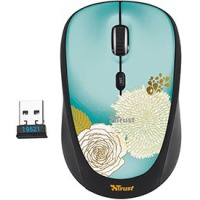 Мышь Trust Yvi Wireless Mini Mouse Flower
