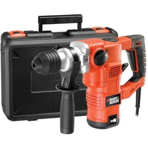 Перфоратор Black&Decker KD1250K-QS SDS-Plus, 1250Вт, 3.5Дж, 850об/хв.