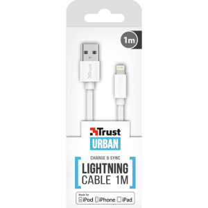 Кабель Trust Urban Revolt Lightning Cable 1m White