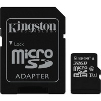 Карта памяти Kingston microSDHC 32GB UHS-I U1 (SDC10G2/32GB) + SD адаптер