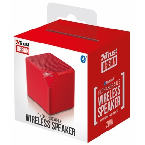 Портативная колонка Trust Ziva Wireless Bluetooth Speaker red