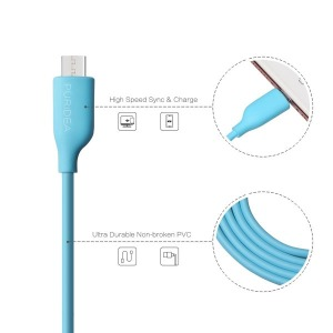 Кабель Puridea L02 - Micro USB - 1.2m Blue