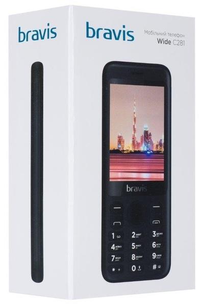 3cf4a178c5696 Мобильный телефон Bravis C281 Wide Black - купить по выгодной цене ...