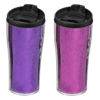Термокружка HEREVIN Pink&Purple Glitter Powder MIX