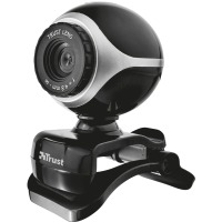 Веб камера Trust Exis Webcam Black/Silver